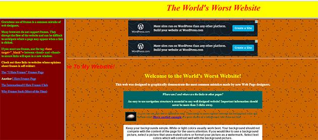 Site moche années 90