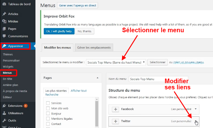 modifier-menu-wordpress