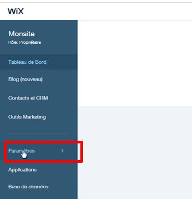 wix-parametres