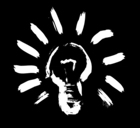 Forme d'ampoule pour créer un logo en rapport avec l'électricité