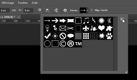 Formes personnalisées pour créer un logo